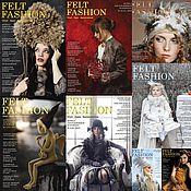 Дизайн и реклама ручной работы. Ярмарка Мастеров - ручная работа Комплект журналов Felt Fashion. Handmade.