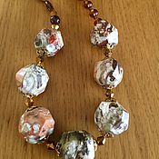 Украшения handmade. Livemaster - original item Beads made of Jasper and obsidian. Handmade.