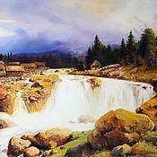 Картины и панно handmade. Livemaster - original item Landscape oil painting Techinica Chernov. Handmade.