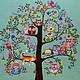 """Фантазийные сюжеты ручной работы. Ярмарка Мастеров - ручная работа. Купить Картина """" Дерево"""". Handmade. Дерево счастья"""