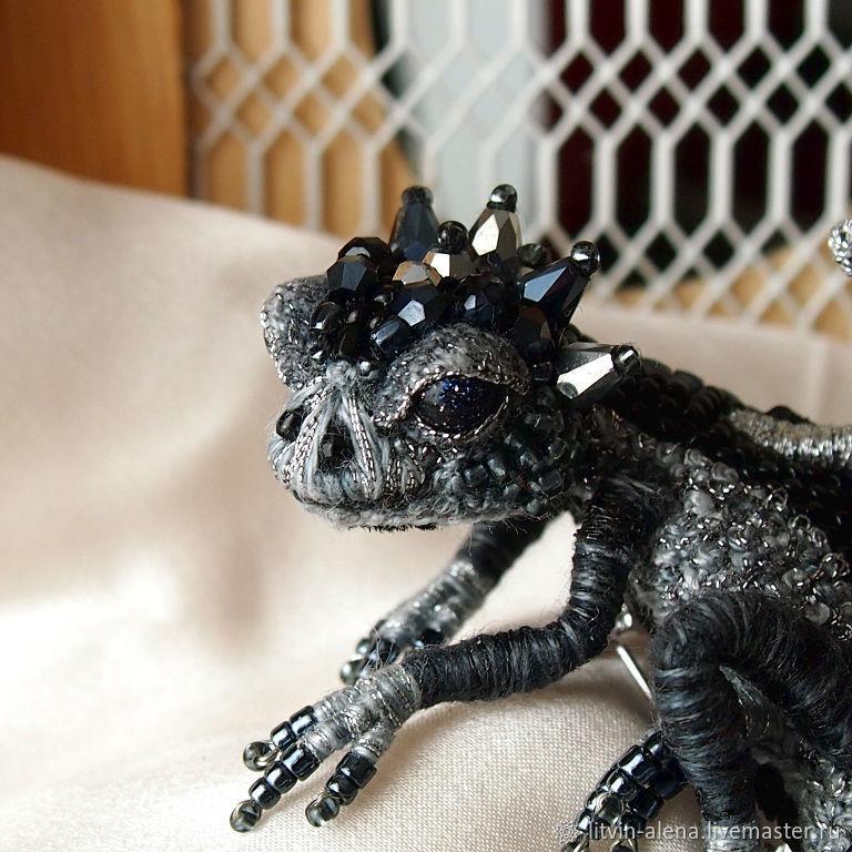 Brooch Dragon Quot Drake Quot Brooch Beads Black Dragon Shop