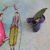 """Украшения ручной работы. Ярмарка Мастеров - ручная работа Брошь-булавка """"Дикий ирис"""". Handmade."""
