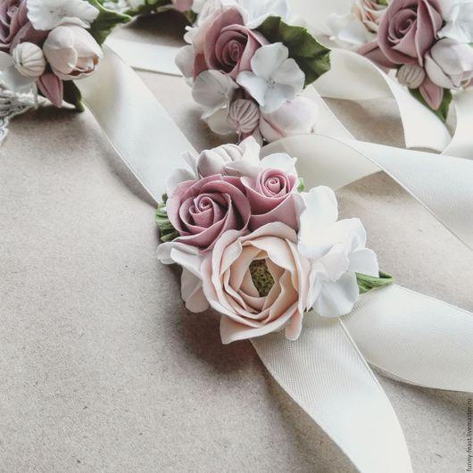 Свадебные украшения ручной работы. Ярмарка Мастеров - ручная работа. Купить Браслет для невесты (для подружек невесты). Handmade. Комбинированный