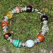 Украшения handmade. Livemaster - original item Women`s bracelet made of natural stones (pomegranate, carnelian...). Handmade.