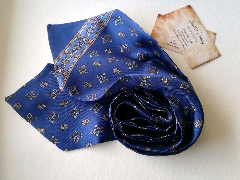 Аскот галстук/шейный платок из натурального шелка, Галстуки, Павловский Посад,  Фото №1
