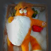"""Куклы и игрушки ручной работы. Ярмарка Мастеров - ручная работа Кот """" Не кантовать! """". 35 см.  Войлок.. Handmade."""