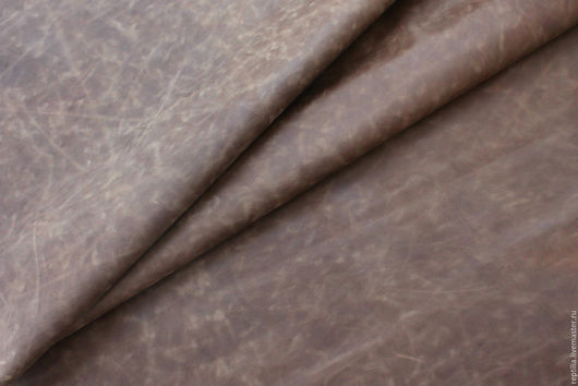 """Шитье ручной работы. Ярмарка Мастеров - ручная работа. Купить Натуральная кожа КРС Crazy horse""""Коричневый"""". Handmade. Кожа, для рукоделия"""