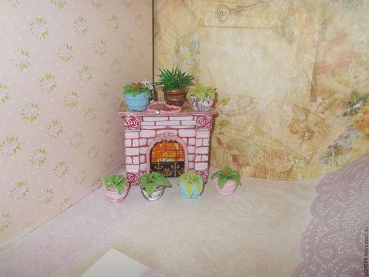 Миниатюра ручной работы. Ярмарка Мастеров - ручная работа. Купить Кукольная миниатюра, цветочки в горшочках.. Handmade. Миниатюра из пластики