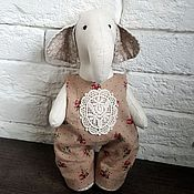 Куклы и игрушки ручной работы. Ярмарка Мастеров - ручная работа Слоник в комбинезоне. Handmade.