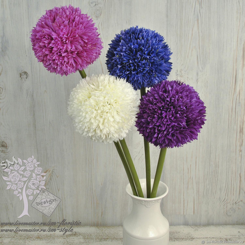 Аллиум (ткань, 4 расцветки), Цветы искусственные, Москва,  Фото №1