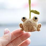 Сувениры и подарки handmade. Livemaster - original item Christmas tree toys: frog, frog toy, Christmas tree decoration. Handmade.