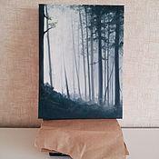 Картины и панно ручной работы. Ярмарка Мастеров - ручная работа Таинственный лес - 3D картина маслом. Handmade.