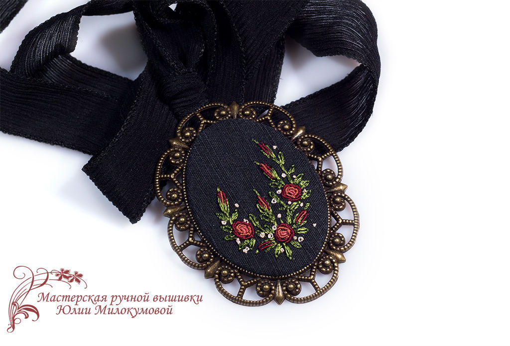 Embroidered pendant Frasquita, Pendant, Moscow,  Фото №1