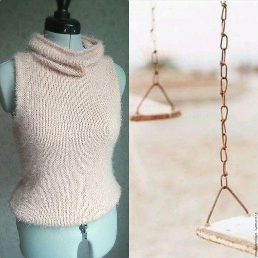 Кофты и свитера ручной работы. Ярмарка Мастеров - ручная работа. Купить Жилет вязаный Принцесса эльфов пуловер без рукавов женский. Handmade.