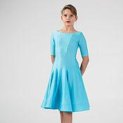 """Работы для детей, ручной работы. Ярмарка Мастеров - ручная работа Рейтинговое платье (Бейсик) для бальных танцев """"Bright Blue"""". Handmade."""