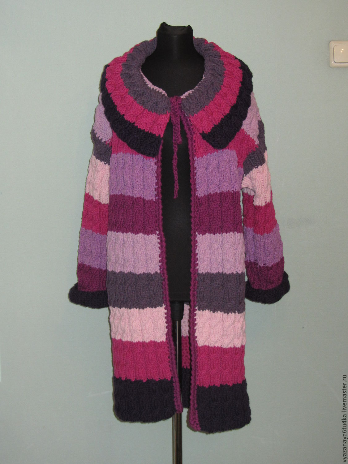 Outer Clothing handmade. Livemaster - handmade. Buy Knit coat ' Pink lilac'.Knitted, women's coat, lilac-purple