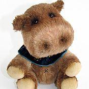 Куклы и игрушки handmade. Livemaster - original item Hippo Teddy Toto (14 cm). Handmade.