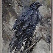 Картины и панно handmade. Livemaster - original item Paintings: oil on canvas crow. Handmade.
