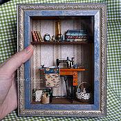Куклы и игрушки ручной работы. Ярмарка Мастеров - ручная работа Румбокс швейный 1/12. Handmade.