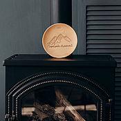 Посуда handmade. Livemaster - original item Wooden flat plate Siberian Cedar engraved T113. Handmade.