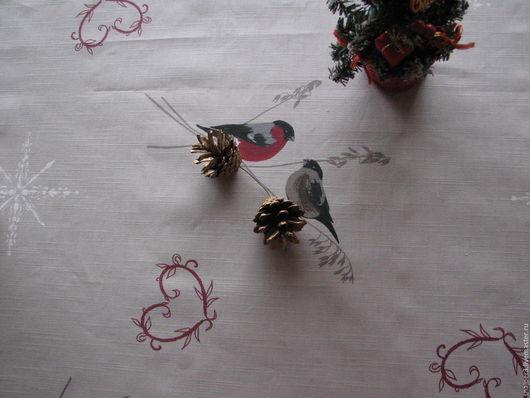 """Текстиль, ковры ручной работы. Ярмарка Мастеров - ручная работа. Купить Скатерть """"В Новый год с любовью"""" скидка 20% новогодняя скатерть. Handmade."""