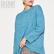 """Одежда ручной работы. Ярмарка Мастеров - ручная работа Свитер голубой """"Бирюза"""" Голубой свитер Голубой свитер Голубой свитер. Handmade."""