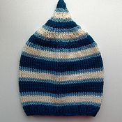 Работы для детей, handmade. Livemaster - original item Kids knitted cap 46-48 сm. Handmade.