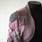 """Одежда ручной работы. Ярмарка Мастеров - ручная работа Шраг """"Серо-розовый"""" шерсть, энтерлак. Handmade."""