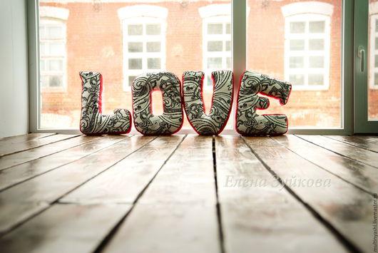 Текстиль, ковры ручной работы. Ярмарка Мастеров - ручная работа. Купить Лямурный LOVE для интерьера. Handmade. Красный, любовь