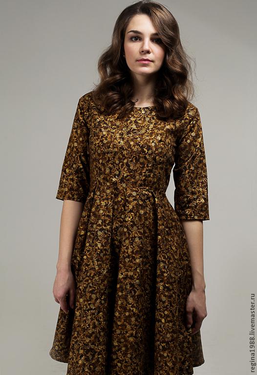 """Платья ручной работы. Ярмарка Мастеров - ручная работа. Купить платье """"Лесная нимфа"""". Handmade. Коричневый, платье из хлопка"""