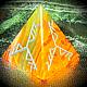 """Обереги, талисманы, амулеты ручной работы. Ярмарка Мастеров - ручная работа. Купить Пирамида- талисман """"ВЕТВИ СИЛЫ"""", из оникса, с руническим ставом. Handmade."""