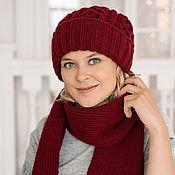 Аксессуары handmade. Livemaster - original item Set: scarf with fringe and cap