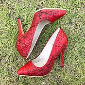 Обувь ручной работы handmade. Livemaster - original item Python CROWN pumps. Handmade.