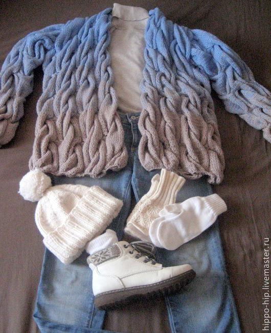 Кофты и свитера ручной работы. Ярмарка Мастеров - ручная работа. Купить Кардиган с градиентом. Handmade. Кардиган, lalo кардиган