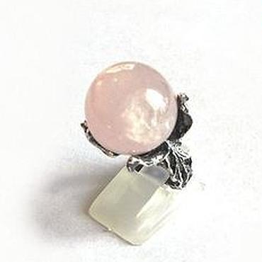 """Украшения ручной работы. Ярмарка Мастеров - ручная работа Розовый кварц. """"Pink peony"""" кольцо с розовым кварцем. Handmade."""