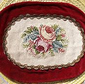 Винтаж handmade. Livemaster - original item Vintage tapestry doily ( embroidery). Germany. Handmade.