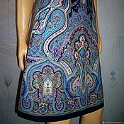 Одежда handmade. Livemaster - original item The skirt is flared from pavlovoposadskaja shawl