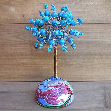 Цветы и флористика ручной работы. Ярмарка Мастеров - ручная работа Дерево из бирюзы «Хранитель семейного покоя» на сфере. Handmade.