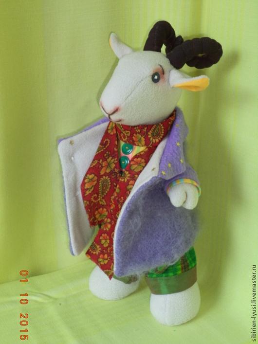 Игрушки животные, ручной работы. Ярмарка Мастеров - ручная работа. Купить Мягкая игрушка - символ 2015 года - Семён Семёныч. Handmade.
