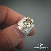 Украшения handmade. Livemaster - original item Ring, silver Paper box (silver, prasiolite). Handmade.