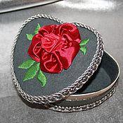 "Для дома и интерьера handmade. Livemaster - original item Box, flowers, ribbon, jewelry box with flowers ""Carmen"". Handmade."