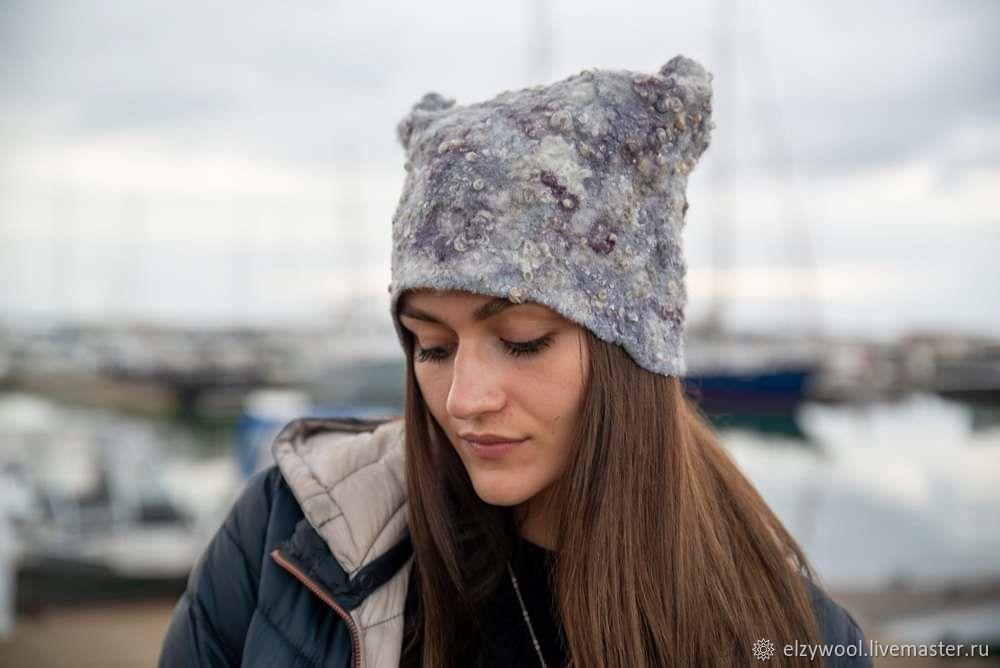 Felted hat with fleece sheep, Caps, Tallinn,  Фото №1
