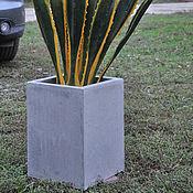 Цветы и флористика handmade. Livemaster - original item Planters concrete square for trees and shrubs. Handmade.