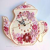 Для дома и интерьера ручной работы. Ярмарка Мастеров - ручная работа часы из стекла, фьюзинг   Нежное время. Handmade.