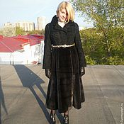 Одежда handmade. Livemaster - original item Fur coat Astrakhan and mink . Alter ( cut ) the fur. Handmade.