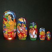 Русский стиль handmade. Livemaster - original item Matryoshka Paul Gauguin. Handmade.