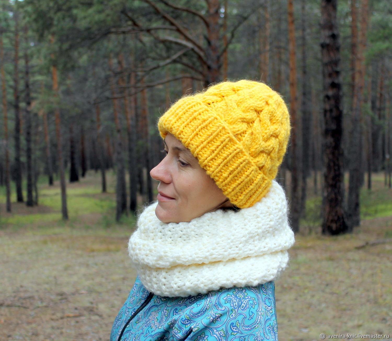 белая шапка, мохеровая шапка, шапка с отворотом, шапка крючком ... | 1307x1500