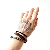 handmade. Livemaster - original item Shambala bracelet with seraphinite on a black thread. Handmade.