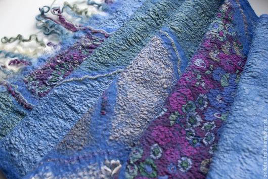 """Шарфы и шарфики ручной работы. Ярмарка Мастеров - ручная работа. Купить Валяный шарф """"Bright, blue and warm"""". Handmade."""