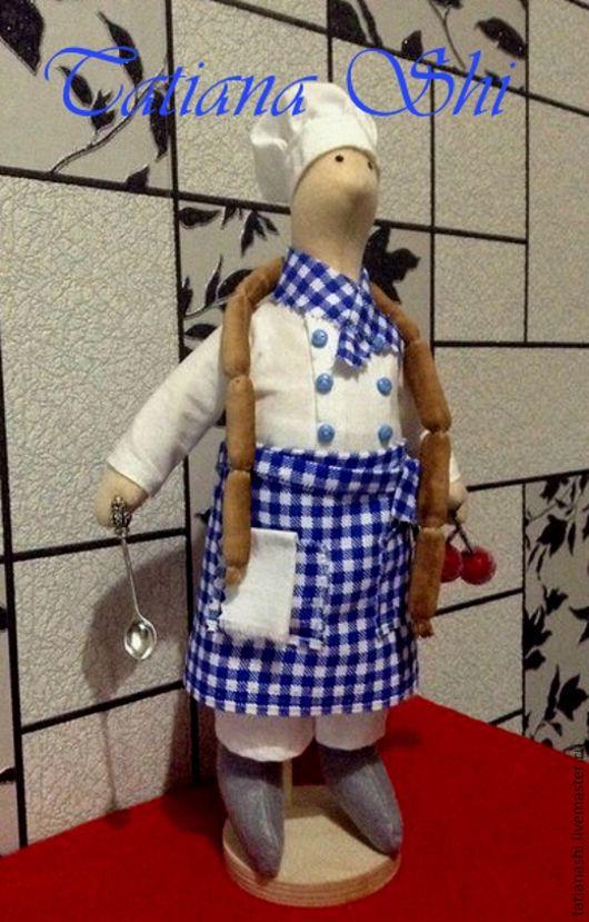 Куклы Тильды ручной работы. Ярмарка Мастеров - ручная работа. Купить Тильда поварёнок.. Handmade. Белый, текстильная кукла
